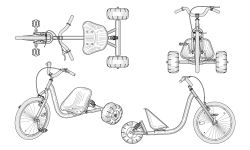 <h5>US PAT# D480,665</h5><p>Tricycle design for Huffy Corporation.</p>