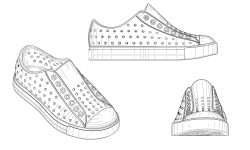 <h5>US PAT# D651,390</h5><p>Shoe design patent for Native Shoes, Ltd.</p>
