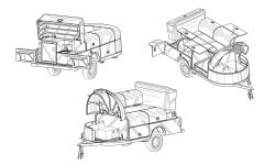 <h5>US PAT# D603,299</h5><p>Recreational towed vehicle camper design patent for Dhs Systems Llc.</p>